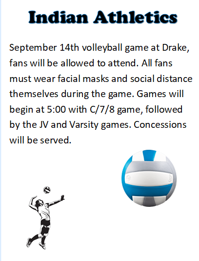 VB matches at Drake Fan Announcement