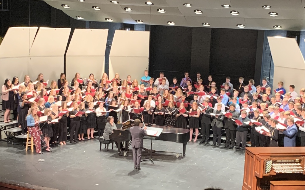 The Honor Chorus directed by Dr. Joseph Gregorio